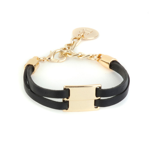 Yudi Leather Bracelet in Gold