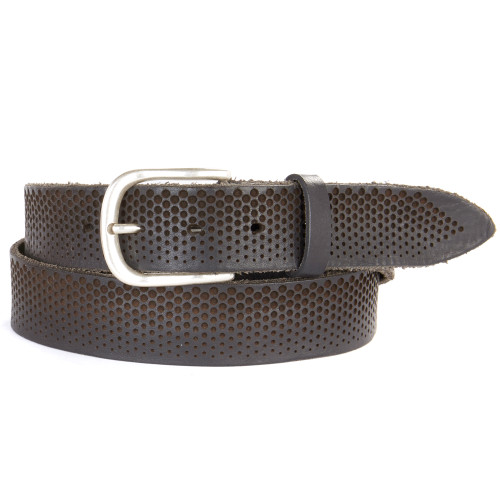 Fletcher Leather Belt in Smog
