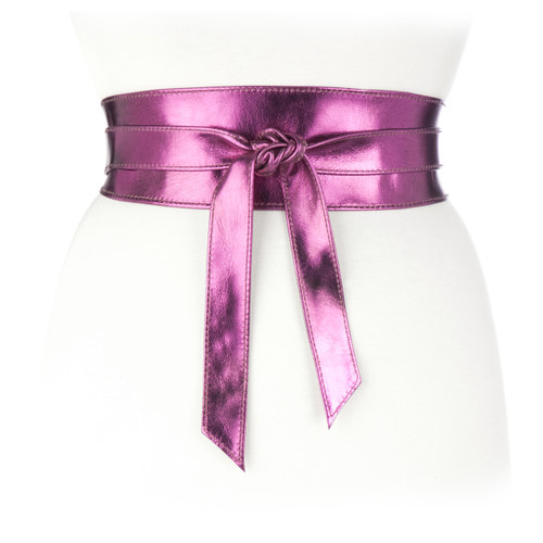 Nida Classic Wrap belt in Magenta Metallic