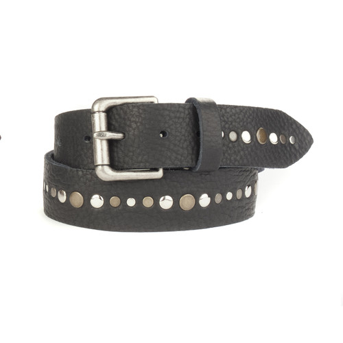 Linas Studded Belt in Raw Washed Black