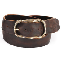 Sirah Leather Belt in Brown