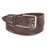 Bellamy Leather Belt in Chocolate