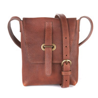 Kaja Leather Crossbody Bag in Brick