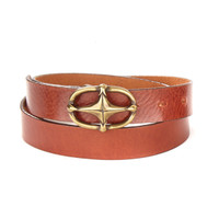 Mireilla Leather Belt in Brandy