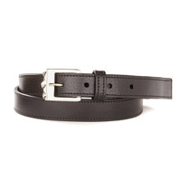 Sabra Leather Belt in Black