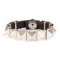 Oisin Leather cuff with metallic accents