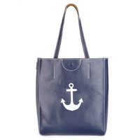 Leather Anchor Tote