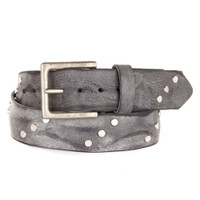 Currier Studded Leather Belt in Thundercloud