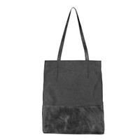 Saloso Buffalo Leather Tote in Charcoal