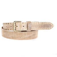 PAX LEATHER BELT IN TAUPE