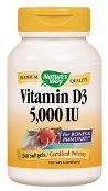 Nature's Way Vitamin D3 5,000 IU 240 Softgels