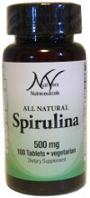 NutriVera Nutraceuticals___ All-Natural Spirulina 500 mg - 100 Tablets