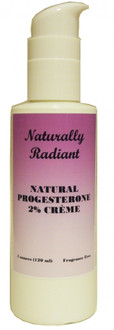 Naturally Radiant Natural Progesterone Cream 4oz Bottle