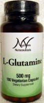 NutriVera Nutraceuticals L-Glutamine 500 mg - 100 Capsules