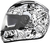 Cyber US-97 Sharpie Graphics Helmet Sm White 641051