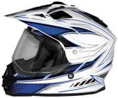 Cyber UX-32 Graphics Helmet XS White/Blue 640990
