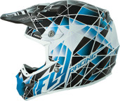 Fly Racing 2015 Formula MX Facet Helmet L Blue/Silver 73-4103L
