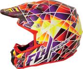 Fly Racing 2015 Formula MX Facet Helmet XS Yellow/Purple/Red 73-4102XS