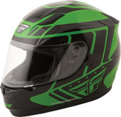 Fly Racing Conquest Retro Helmet Lg Green/Black 73-8415L