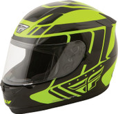 Fly Racing Conquest Retro Helmet Lg Hi Viz 73-8414L