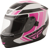 Fly Racing Conquest Retro Helmet Lg Pink/Black 73-8419L