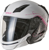 Fly Racing Tourist Cirrus Open Face Helmet XS White/Pink F73-8108-1