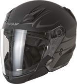 Fly Racing Tourist Vista Open Face Helmet XL Flat Black/Silver F73-8107-5