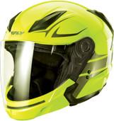 Fly Racing Tourist Vista Open Face Helmet XL Hi Viz/Gunmetal F73-8106-5