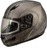 GMAX GM44S Modular Multi Color Snow Helmet Md Flat Silver G6442555 F.TC-21