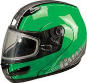 GMAX GM44S Modular Multi Color Snow Helmet Sm Green G6442224 TC-3