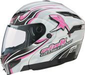 GMAX GM54 Modular Street Helmet Pink Ribbon XL Pink 1543407 F.TC-14