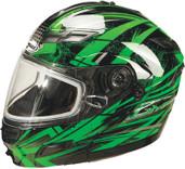 GMAX GM54S Modular Multi Color Snow Helmet Md Green G2544225 TC-3