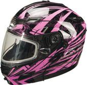 GMAX GM54S Modular Multi Color Snow Helmet Md Pink G2544405 TC-14