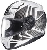 HJC CL-17 Redline Helmets 3XL Black White 828-907