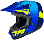HJC CL-X7 Cross Up Helmet Lg Blue/Hi Viz 748-724
