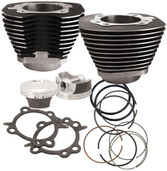 S&S Cycle Big Bore Cylinder Kit 106in Black Powder-Coated 910-0206