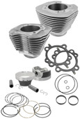 S&S Cycle Big Bore Cylinder Kit 106in Silver Powder-Coated 910-0202