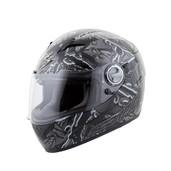 Scorpion EXO-500 Crude Helmet Md Black/Grey 50-9444