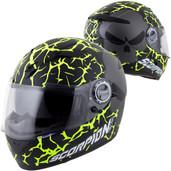 Scorpion EXO-500 Numbskull Helmet Lg Black/Neon 50-11535