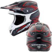Scorpion VX-R70 Blur Off Road Helmet Md Red 70-5014