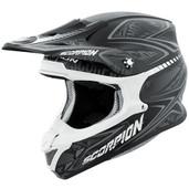 Scorpion VX-R70 Blur Off Road Helmet Md Silver 70-5044