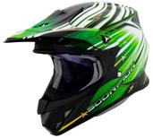 Scorpion VX-R70 Flux Helmet 2XL Green SCORPION70-2097