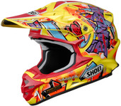 Shoei VFX-W Barcia Helmets SML Yellow Multi 0145-8403-04