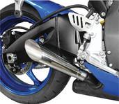 Hotbodies Megaphone Polished Dual Slip-On Suzuki Exhaust 60802-2100