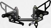 Vortex Adjustable Rear Set  Black  RS198K
