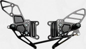 Vortex Adjustable Rear Set  Black  RS406K