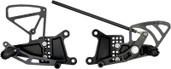 Vortex Adjustable Rear Set  Black  RS602K