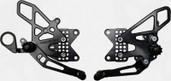 Vortex Adjustable Rear Set Version 2  Black  RS188K