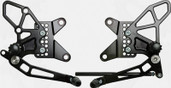 Vortex Adjustable Rear Set Version 2  Black  RS415K