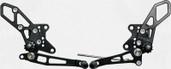 Vortex Adjustable Rear Set Version 2  Black  RS424K